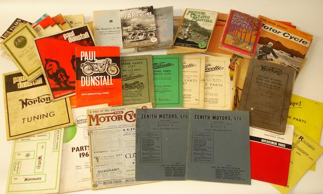 Two 1909 Zenith Motors Ltd range brochures,