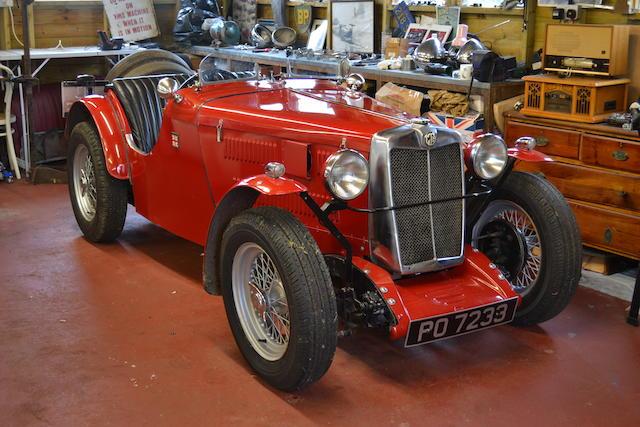 1933 MG Midget J2 Roadster  Chassis no. J3064 Engine no. XPAGD54892