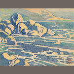 Marion Gill (British, 1879-1959) The waves at Hermanus
