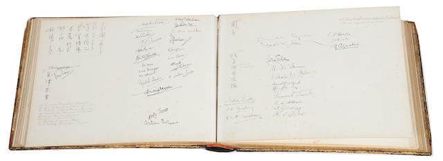 A Japanese visitors book for the British embassy in Japan