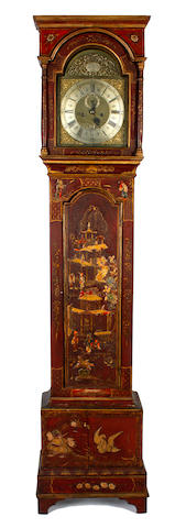 An early 18th century longcase clock By William Barrow, London distressed