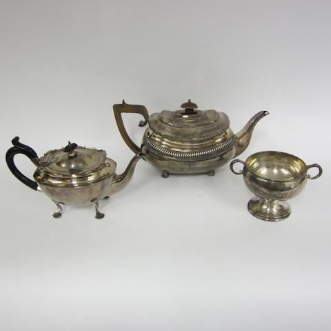 A George III silver teapot,  London, 1814