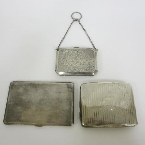 A silver purse, by F&G Birmingham, 1917