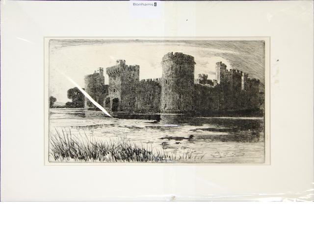 H. G. Hampton A colection of eight various etchings various sizes,