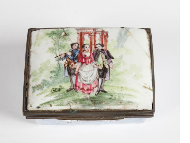 A late 18th Century Continental enamel box
