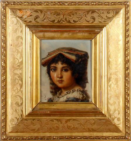 Italian School, 19th Century Portraits of peasant girls