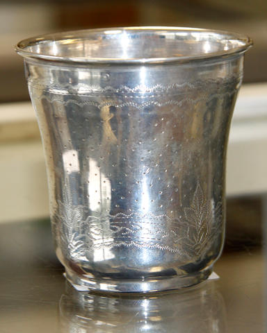 A French   silver tumbler cup,
