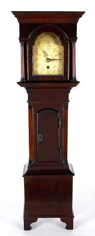 A Victorian mahogany miniature longcase clock