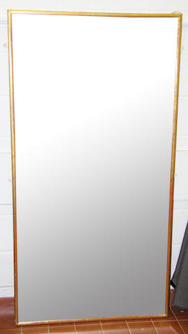 A large wall mirror,