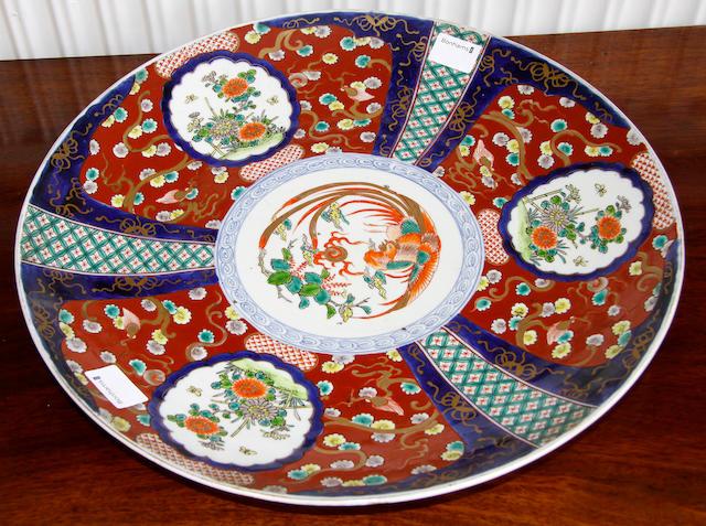 An Imari saucer dish,
