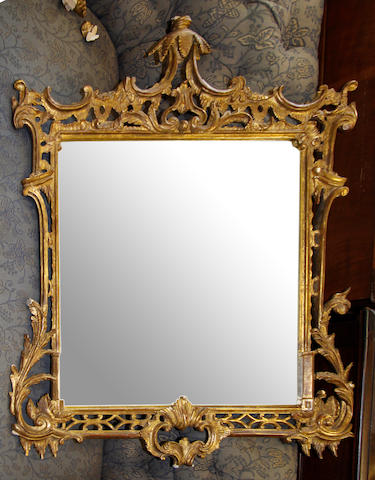 A Chippendale style wall mirror,