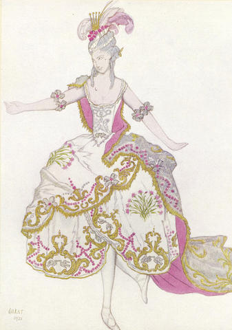 BAKST (LEON) The Designs of Léon Bakst for the Sleeping Princess. A Ballet in Five Acts after Perrault, Music by Tchaikovsky, Preface by André Levinson, LIMITED TO 1,000 COPIES