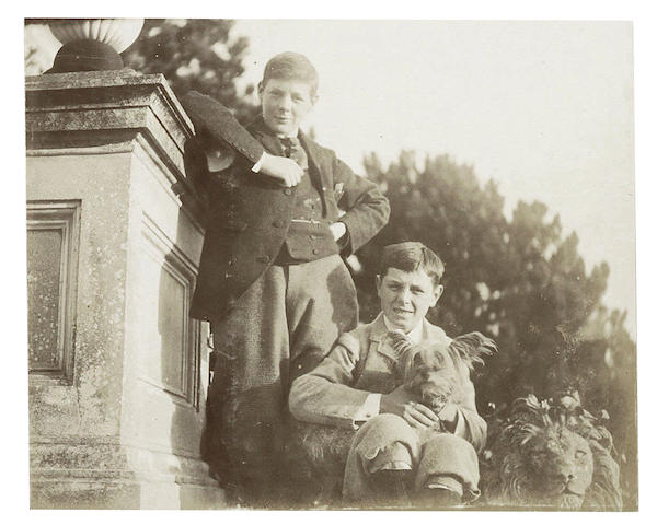 CHURCHILL FAMILY ALBUM, including TWO OTHERWISE UNKNOWN IMAGES OF WINSTON CHURCHILL AT EIGHTEEN [1892-1893]