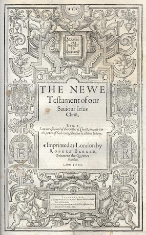 BIBLE, in English, Bishops' Version, 1602