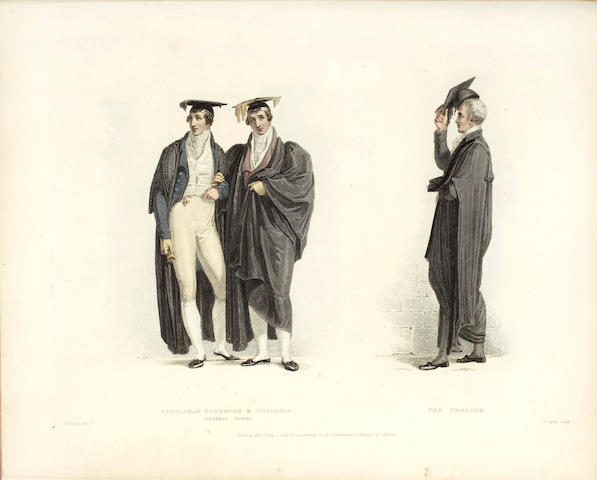 OXFORD ACKERMANN (RUDOLPH) The Costumes of the University of Oxford, Illustrated By a Series of Engravings From Original Drawings by Thomas Uwins, 1815