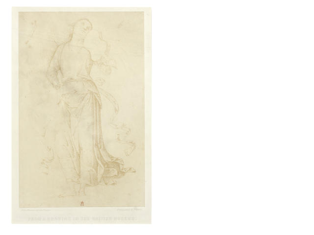 FENTON (ROGER) Study for an angel playing a violin by Pietro Vannucci called Perugino, [c.1857]