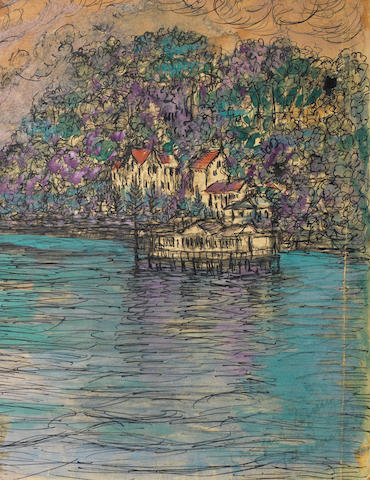Fahrelnissa Zeid (Turkish, 1901-91) Houses on the Bosphorus