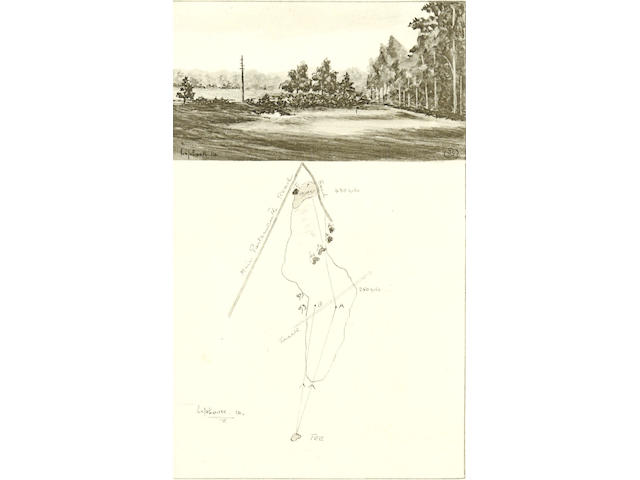 GOLF - WETHERED (H. NEWTON) and T. SIMPSON. The Architectural Side of Golf... Illustrated by the Authors, FIRST EDITION, NUMBER 19 OF 50 LARGE PAPER COPIES SIGNED BY THE AUTHORS, 1929