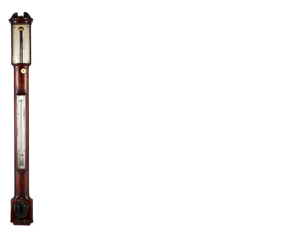 A mahogany cased stick barometer By Carey, London