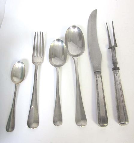 A small quantity of silver Hanoverian pattern flatware by Mappin & Webb, London 1924  (Qty)