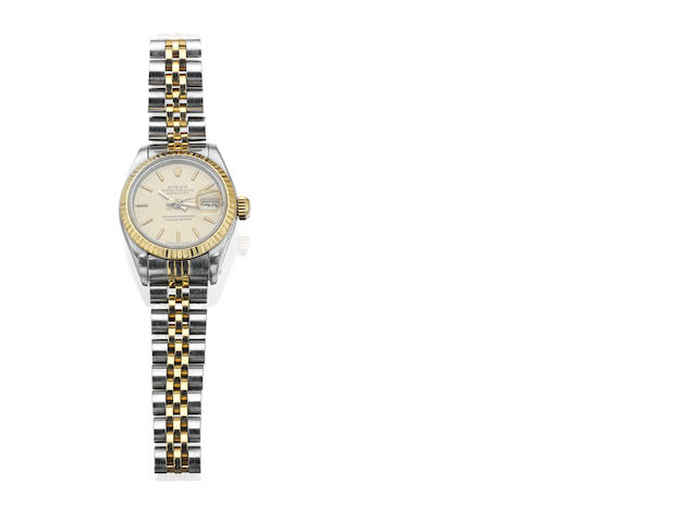 A lady's 'DateJust' wristwatch, by Rolex