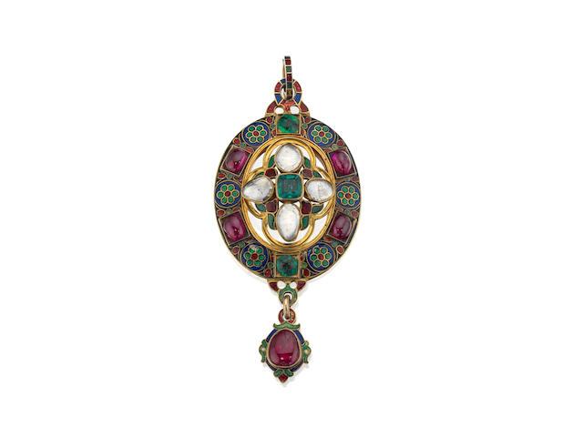 A 19th century Renaissance revival pendant