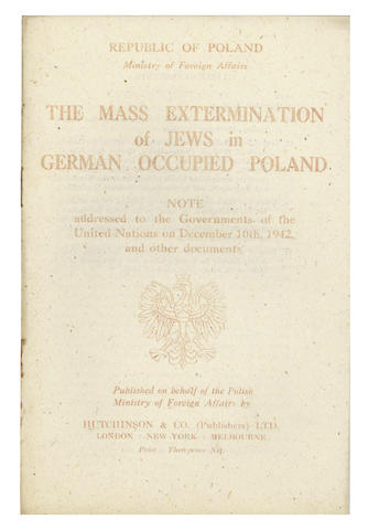 HOLOCAUST The Mass Extermination of Jews in German Occupied Poland. [1943]