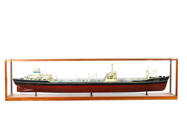 A large Builders model of the Oil Tanker London Independence 89x14x49ins. (226x36x125cm)