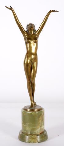 An Art Deco bronze nude