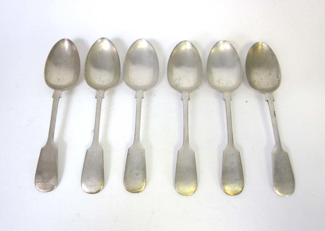 Six silver Fiddle pattern table forks and six table spoons by James Deakin & Sons, Sheffield 1924  and other items (Qty)
