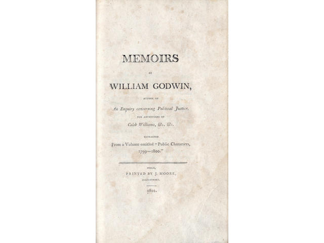 GODWIN (WILLIAM) The Enquirer, 1797, bound with the Memoirs, 1802