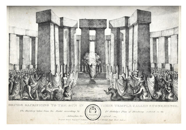 WHITTOCK (NATHANIEL)  Druids Sacrificing to the Sun in their Temple called Stonehenge; and other prints (quantity)