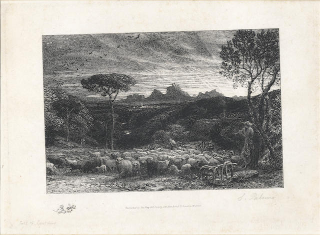 PALMER (SAMUEL)  [Opening the Fold, Early Morning], 1880; and other prints (quantity)