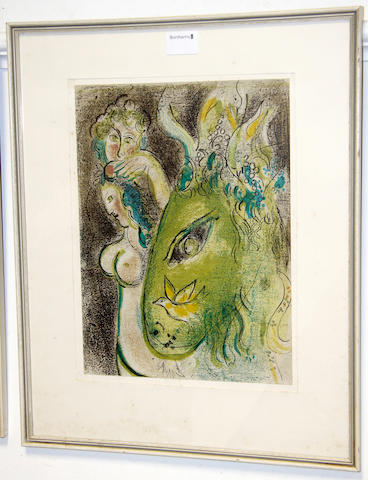 After Marc Chagall (Russian/French, 1887-1985) Paradise I; Paradise II