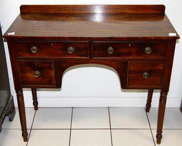 A small George III mahogany sideboard,