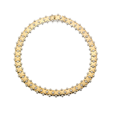 A diamond collar, by Mappin & Webb