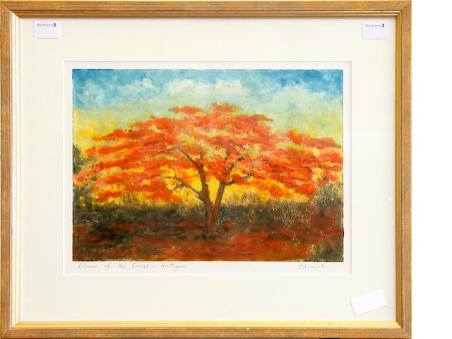 Chinwe Chukwuogo-Roy, M.B.E. (Nigerian, born 1952) Flame of the forest