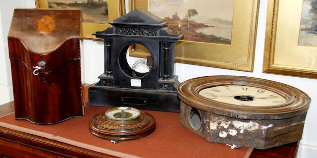A Belgian slate clock case, 4