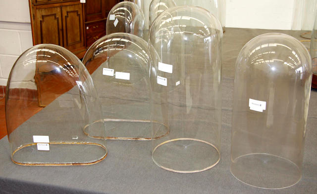 A group lot of four glass domes 4