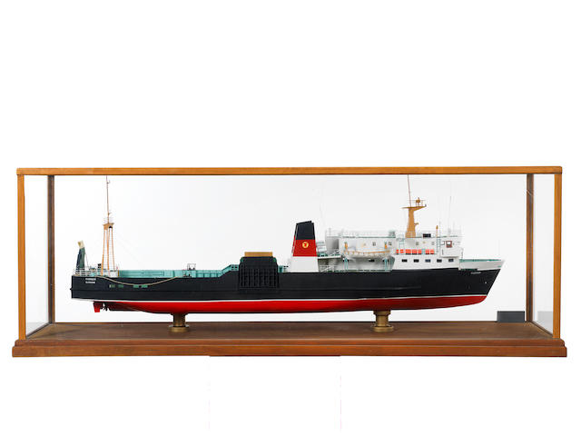 A Builder's style  model of the Passenger ferry MV Pioneer 1974 58x15x20ins. (147x38x51cm)