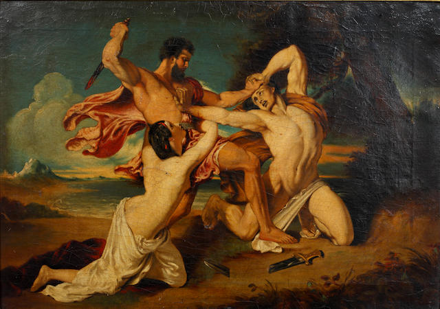After William Etty, RA Figures in Mortal Combat