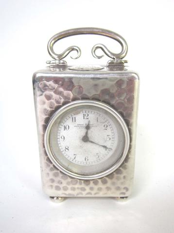 An Edwardian  silver cased timepiece by Drew & Sons, London 1905,