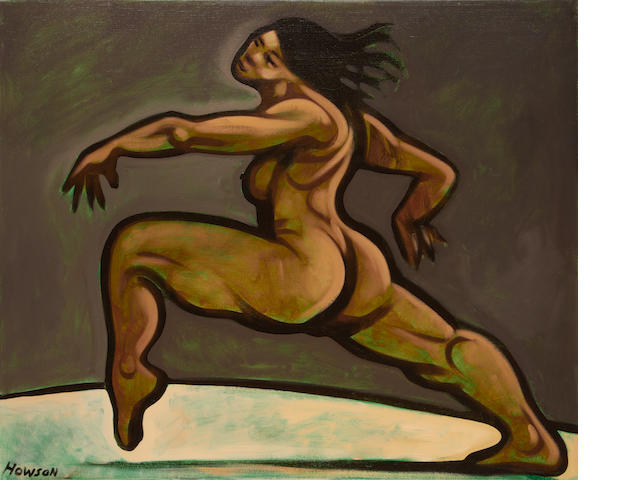 Peter Howson (British, born 1958) Woman dancing unframed