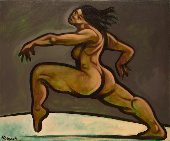 Peter Howson (British, born 1958) Woman dancing unframed