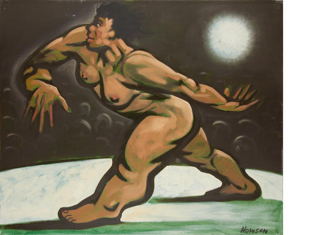 Peter Howson (British, born 1958) Woman walking unframed