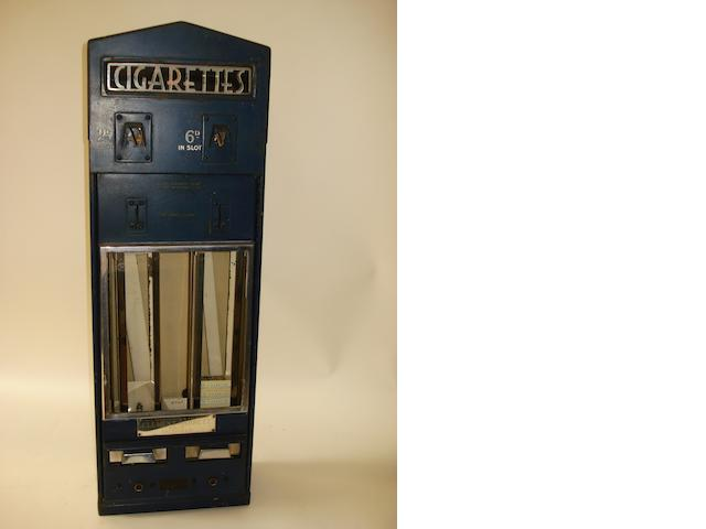 A Clement Garrett & Co Ltd illuminated cigarette dispensing machine,