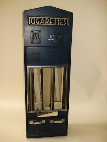 A Clement Garrett & Co Ltd illuminated cigarette dispensing machine,