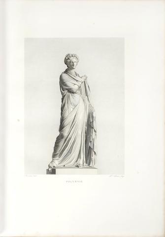 MUSÉE FRANÇAIS DUCHESNE (JEAN) Musée Français, recueil des plus beaux, tableaux, statues et bas reliefs qui existant au Louvre avant 1815... Statues, one vol. (of 4), [1829-1830]