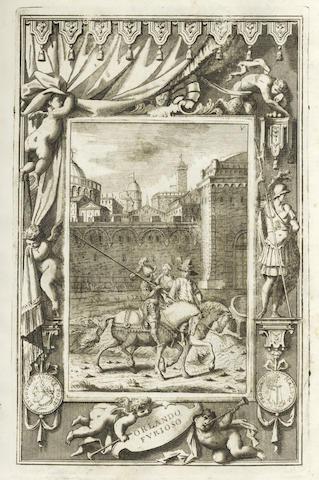 ARIOSTO (LUDOVICO) Orlando furioso [vol. 2 of 'Opere'], 1730