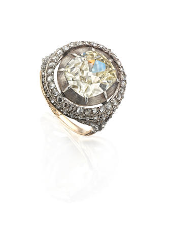 An early 19th century Imperial presentation diamond ring, Russian